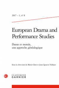 European drama and performance studies 2017 - 1, n°8
